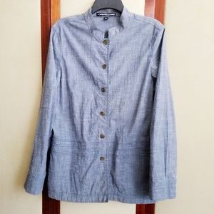 Company Ellen Tracy Blue Chambray Jacket Size 12